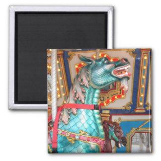 Carousel Dragon Fridge Magnet
