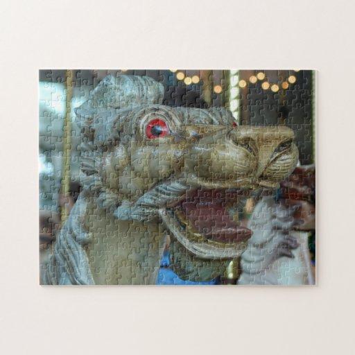 Carousel Dragon Portrait Jigsaw Puzzles