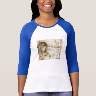 Carousel Dreams Baby Blue & White Raglan T-Shirt