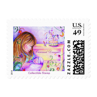 Carousel Dreams Collectible Postage Stamp