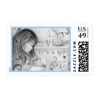 Carousel Dreams It's a Boy US Postage Stamps