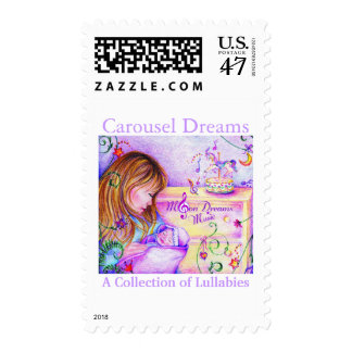 Carousel Dreams Large Postage Stamp
