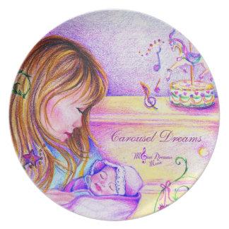 Carousel Dreams Melamine Plate