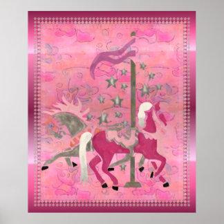 Carousel Dreams Nursery Childs Artwork Poster