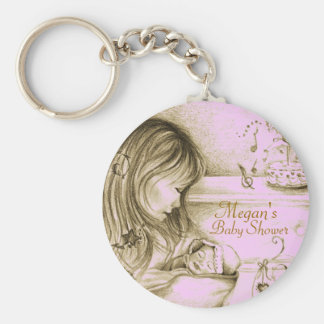 Carousel Dreams Pale Vintage Pink Keychain