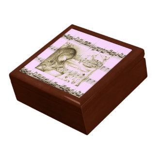 Carousel Dreams Pink Vintage Music Trinkets Box Keepsake Boxes