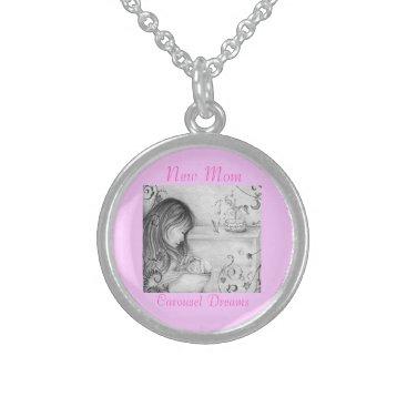 moondreamsmusic Carousel Dreams Round Sterling Silver Necklace