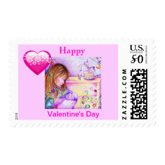 Carousel Dreams Valentines Day Med. Postage Stamp