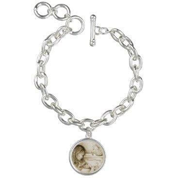 moondreamsmusic Carousel Dreams Vintage Silver Charm Bracelet