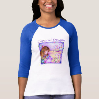 Carousel Dreams Women's Raglan 3/4 Sleeves T-Shirt