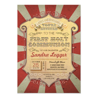 Carousel First Holly Communion Card
