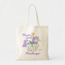 Carousel Flower Girl Tote Bag