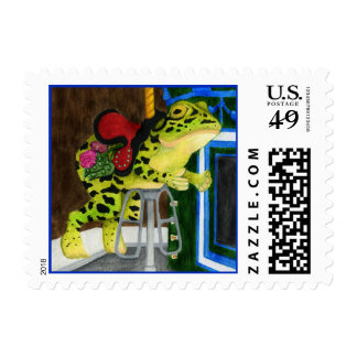Carousel Frog - Lily Postage Stamp