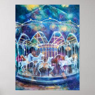 Carousel Galaxy Poster