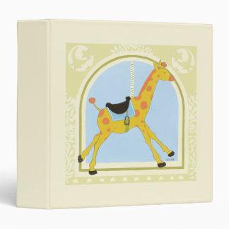 Carousel Giraffe by June Erica Vess 3 Ring Binder