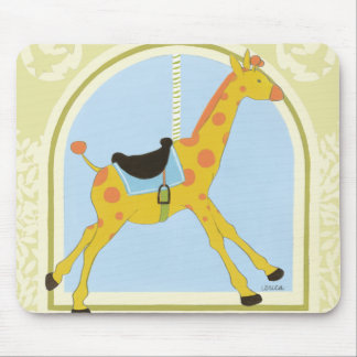 Carousel Giraffe by June Erica Vess Mouse Pad