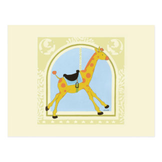 Carousel Giraffe by June Erica Vess Postcard