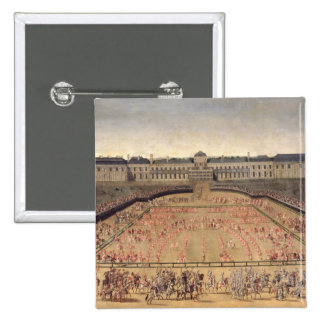 Carousel given for Louis XIV Button