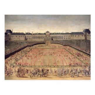 Carousel given for Louis XIV Postcard