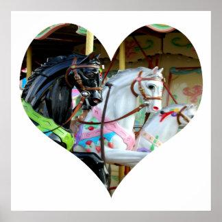Carousel Heart Poster