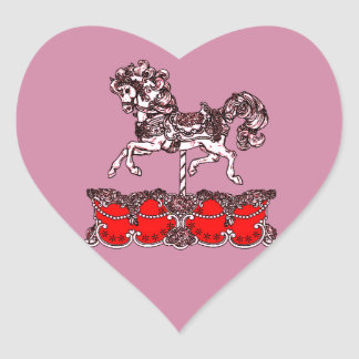 Carousel Heart Sticker