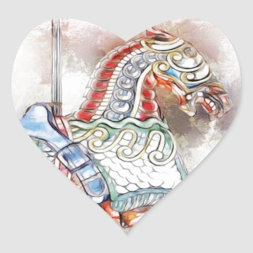 Carousel Horse 1 Heart Sticker