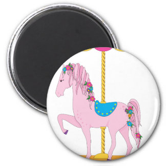 Carousel Horse 2 Inch Round Magnet
