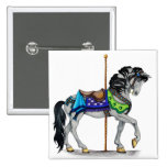 Carousel Horse 2 Inch Square Button