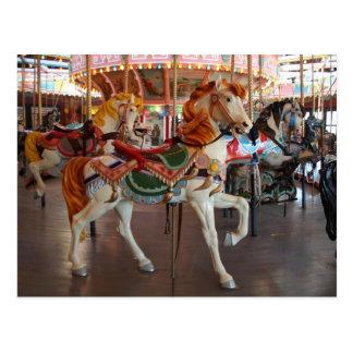 Carousel Horse,2 Postcard