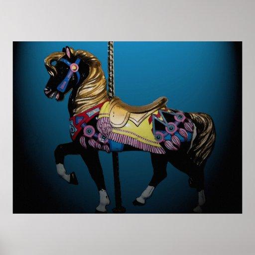 Carousel Horse 32 x 24 Poster