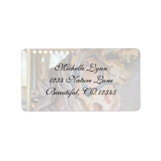 Carousel Horse Address Label