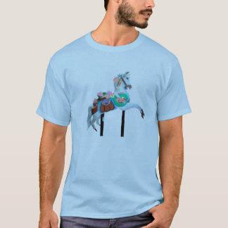 """CAROUSEL HORSE ADULT TSHIRT BLUE"""