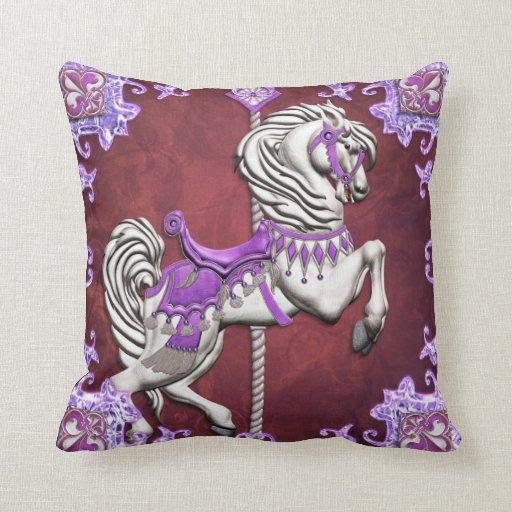 Carousel Horse, Amethyst Joy - American MoJo Pillo Pillow