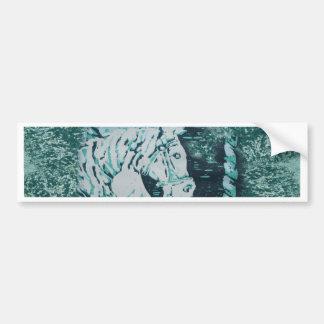 Carousel Horse Aquamarine Bumper Sticker