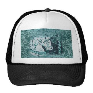 Carousel Horse Aquamarine Trucker Hat