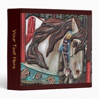 Carousel Horse Art Binder