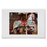 Carousel Horse - Authentic Antique Wood Poster