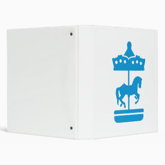 Carousel Horse Vinyl Binders