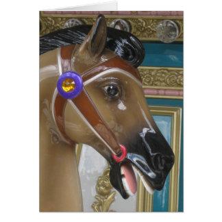 Carousel Horse Blank Card