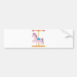 Carousel Horse Car Bumper Sticker