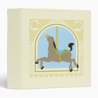 Carousel Horse by June Erica Vess 3 Ring Binder