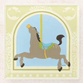 Carousel Horse by June Erica Vess Glass Coaster