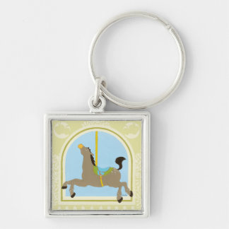 Carousel Horse by June Erica Vess Keychain