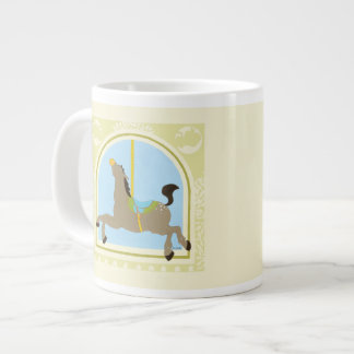Carousel Horse by June Erica Vess Large Coffee Mug