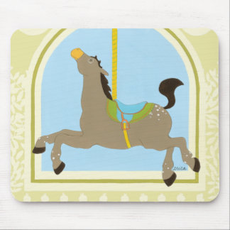 Carousel Horse by June Erica Vess Mouse Pad
