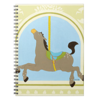 Carousel Horse by June Erica Vess Spiral Notebook