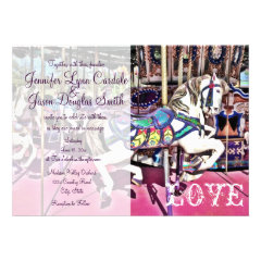 Carousel Horse Carnival Wedding Invitations