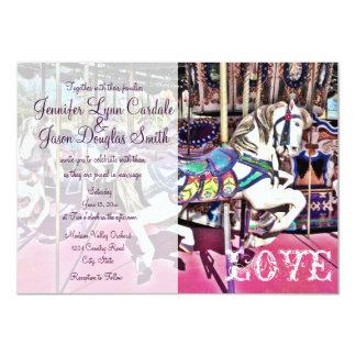 Carousel Horse Carnival Wedding Invitations