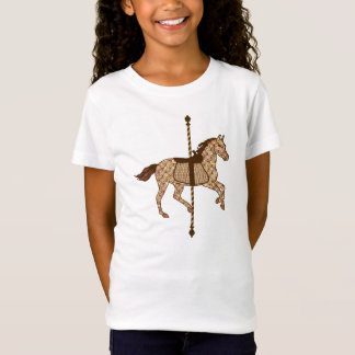 Carousel Horse - Chocolate Brown and Tan T-Shirt