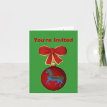 Carousel Horse Christmas Holiday Party Invitation